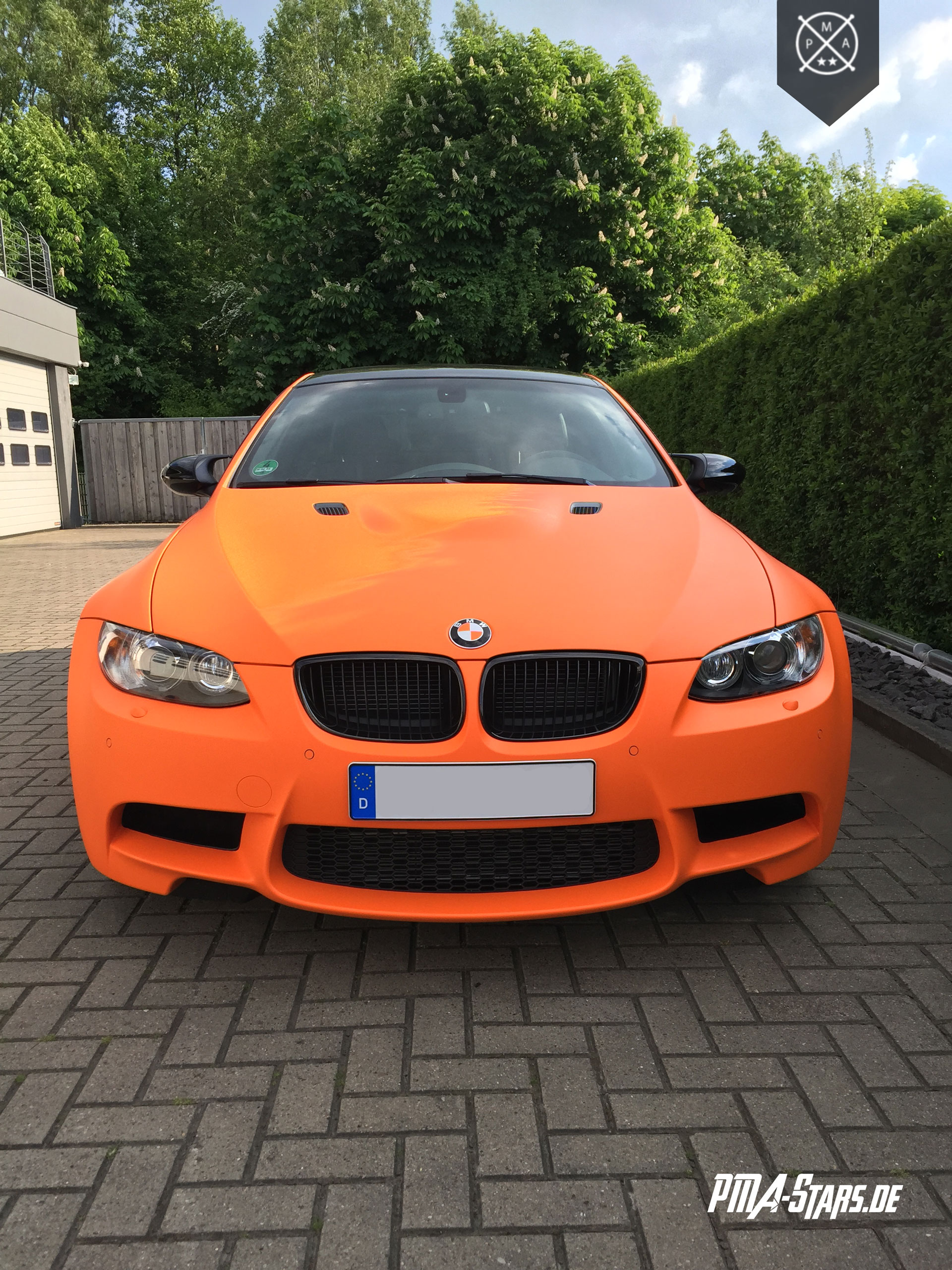 Vollfolierung BMW M3 Orange Matt